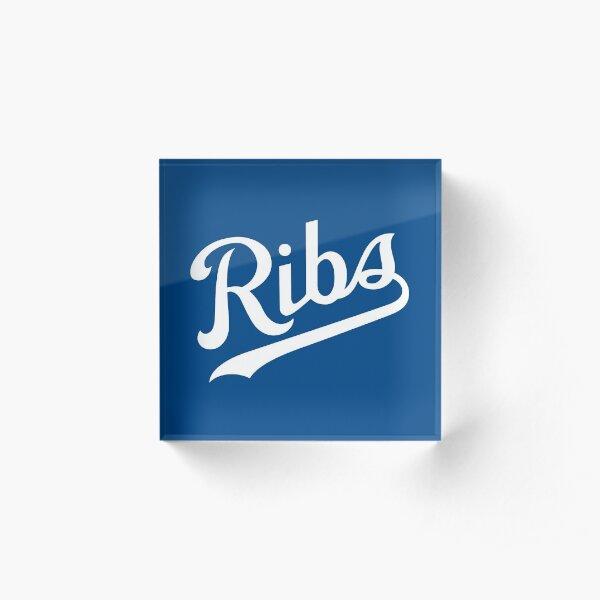 KC Ribs - Blue 1 Acrylic Block