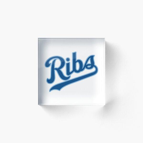 KC Ribs - White 2 Acrylic Block