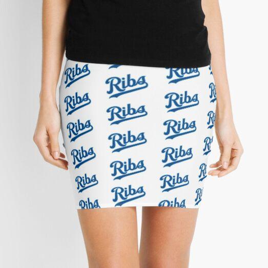 KC Ribs - White 2 Mini Skirt