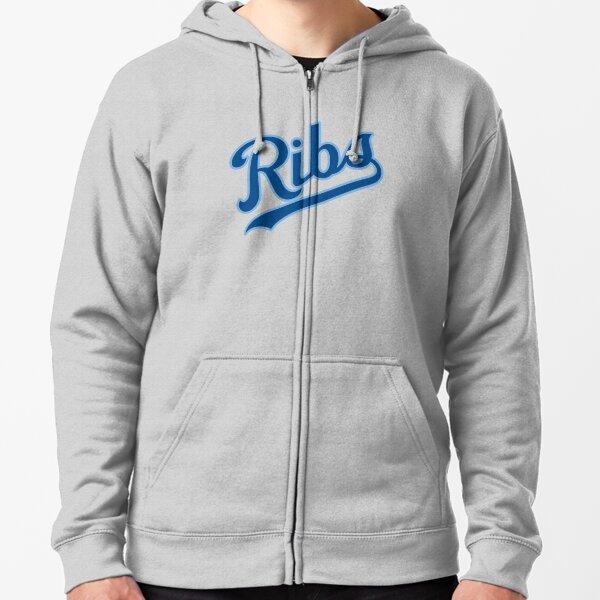 KC Ribs - White 2 Zipped Hoodie