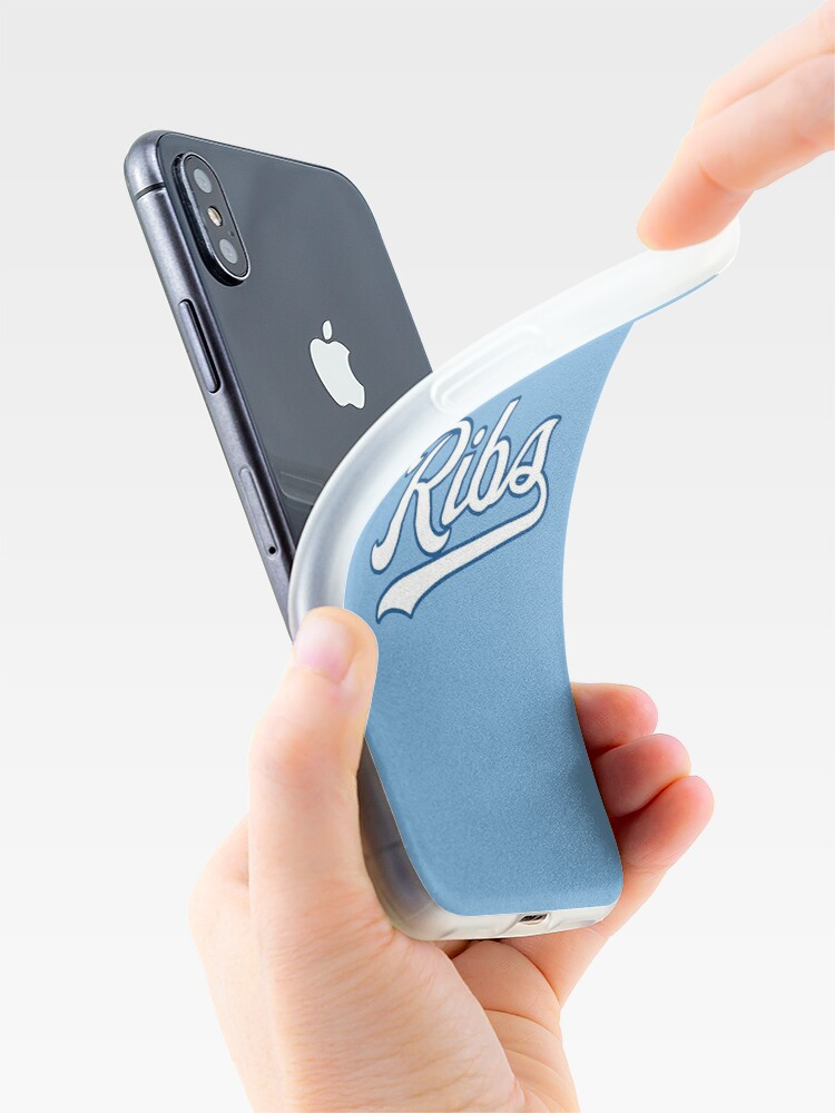 Alternate view of KC Ribs - Powder Blue 2 iPhone Case & Cover