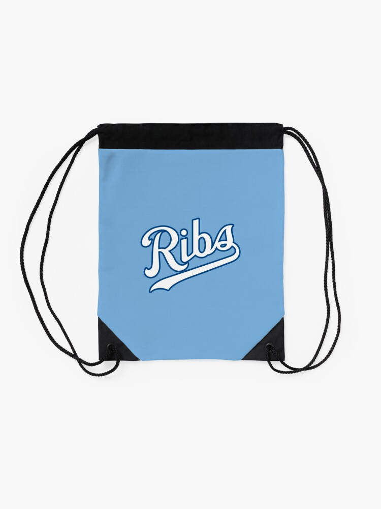 Alternate view of KC Ribs - Powder Blue 2 Drawstring Bag