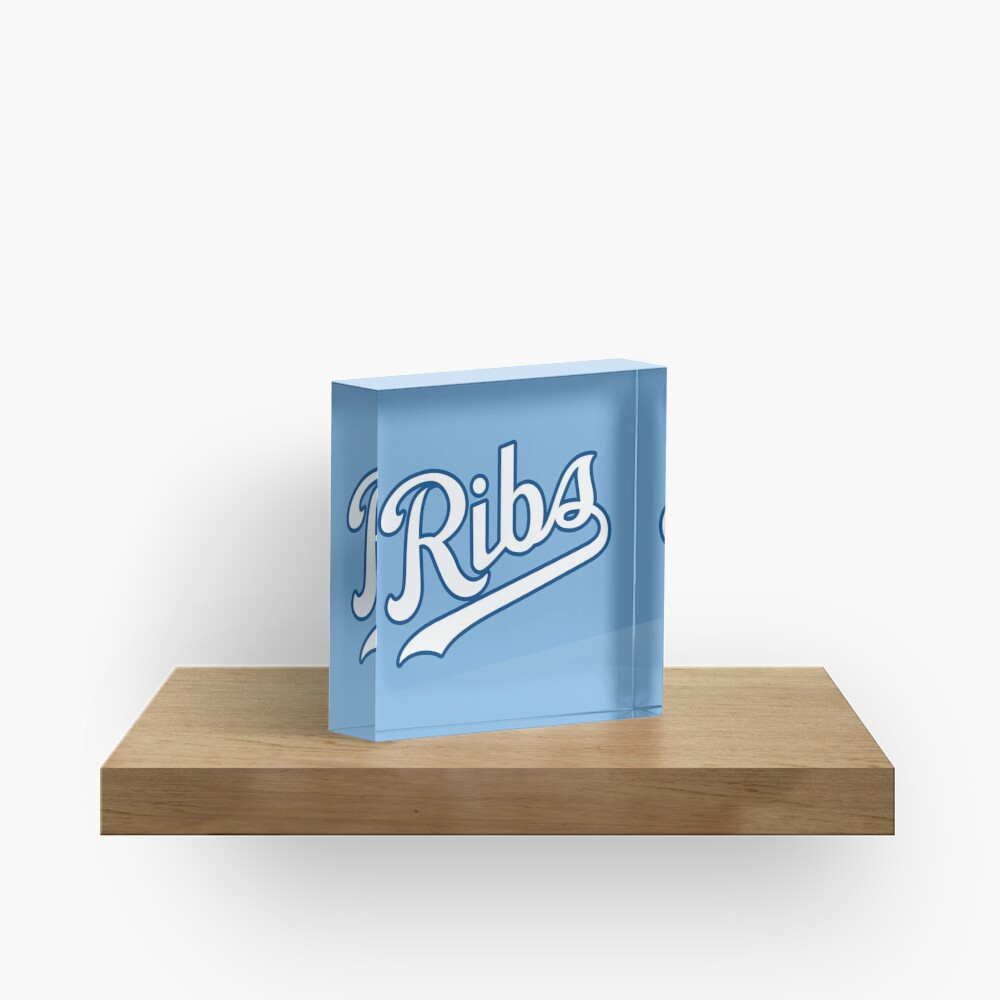 KC Ribs - Powder Blue 2 Acrylic Block