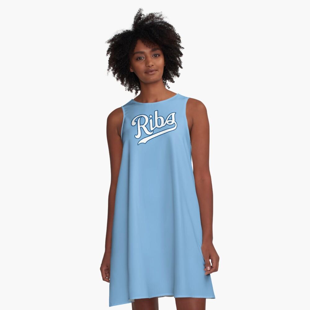 KC Ribs - Powder Blue 2 A-Line Dress