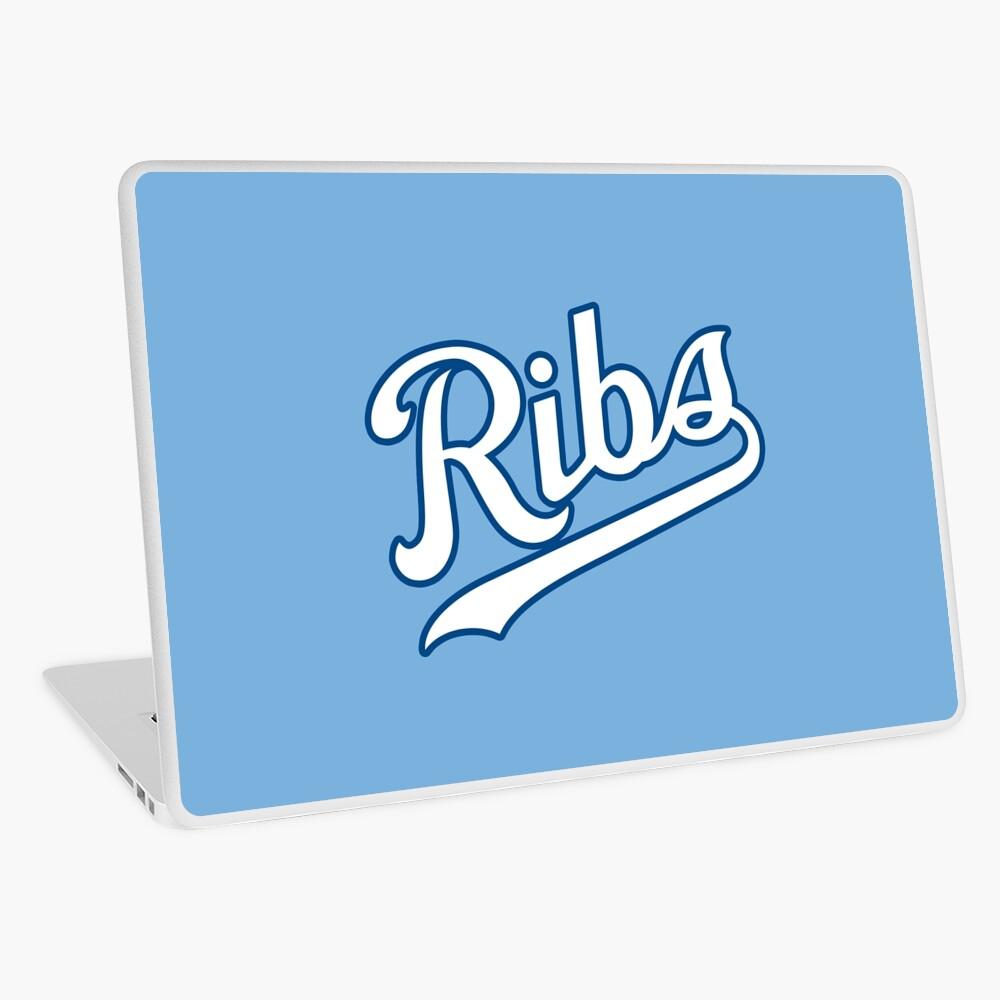 KC Ribs - Powder Blue 2 Laptop Skin