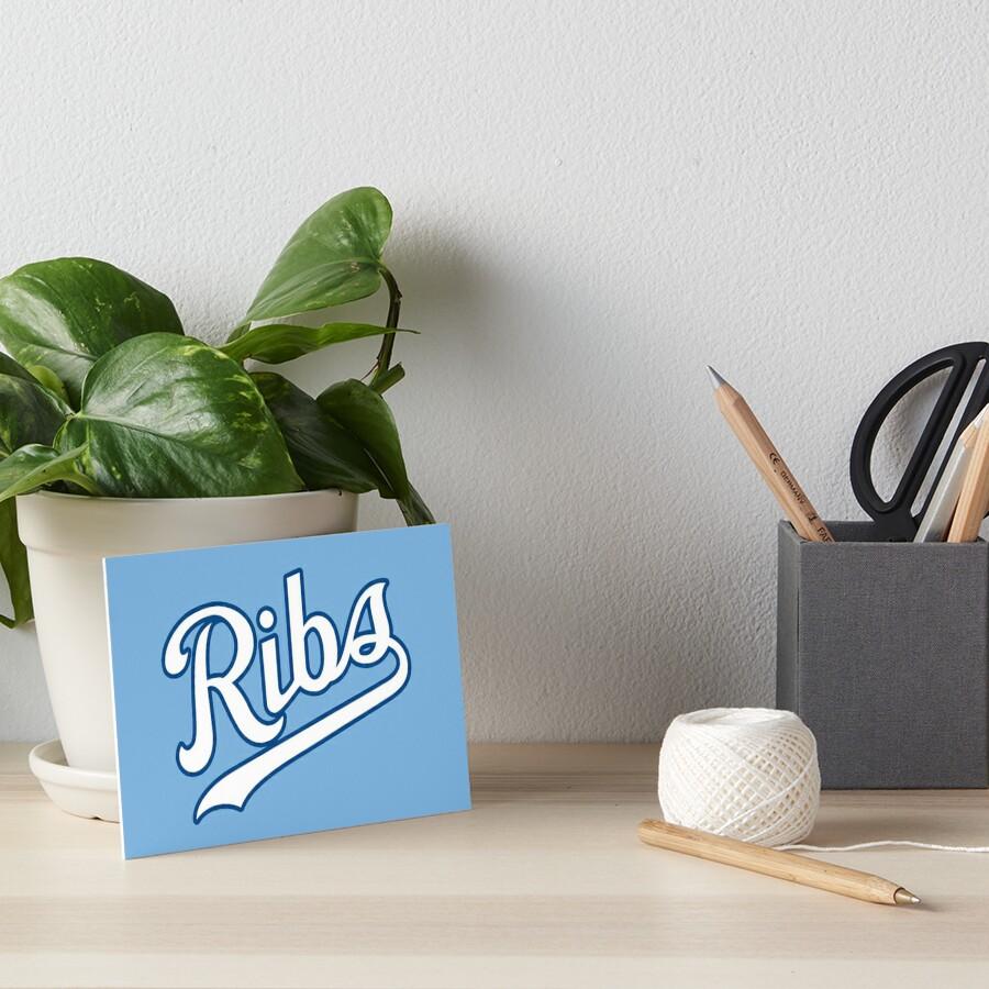 KC Ribs - Powder Blue 2 Art Board Print