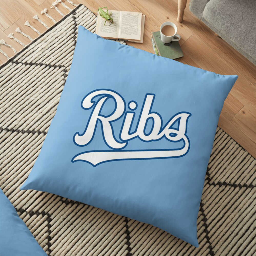 KC Ribs - Powder Blue 2 Floor Pillow