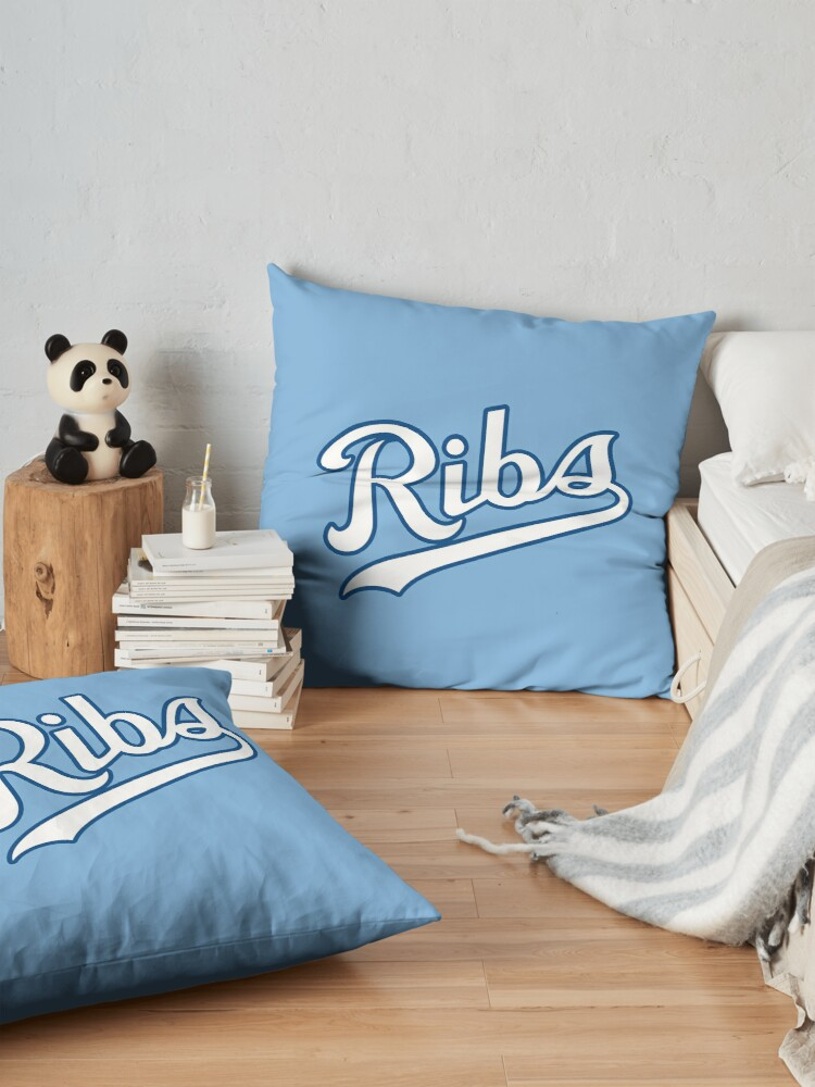 Alternate view of KC Ribs - Powder Blue 2 Floor Pillow