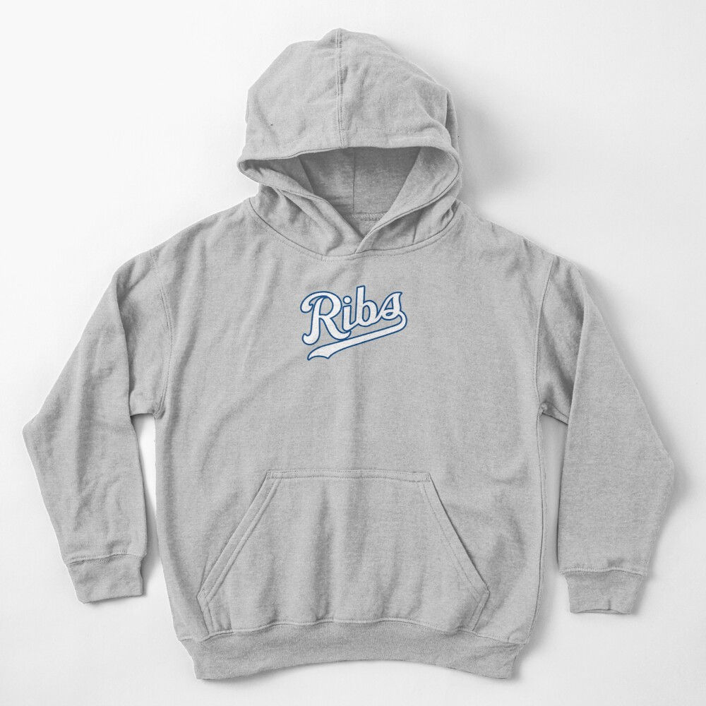 KC Ribs - Powder Blue 2 Kids Pullover Hoodie