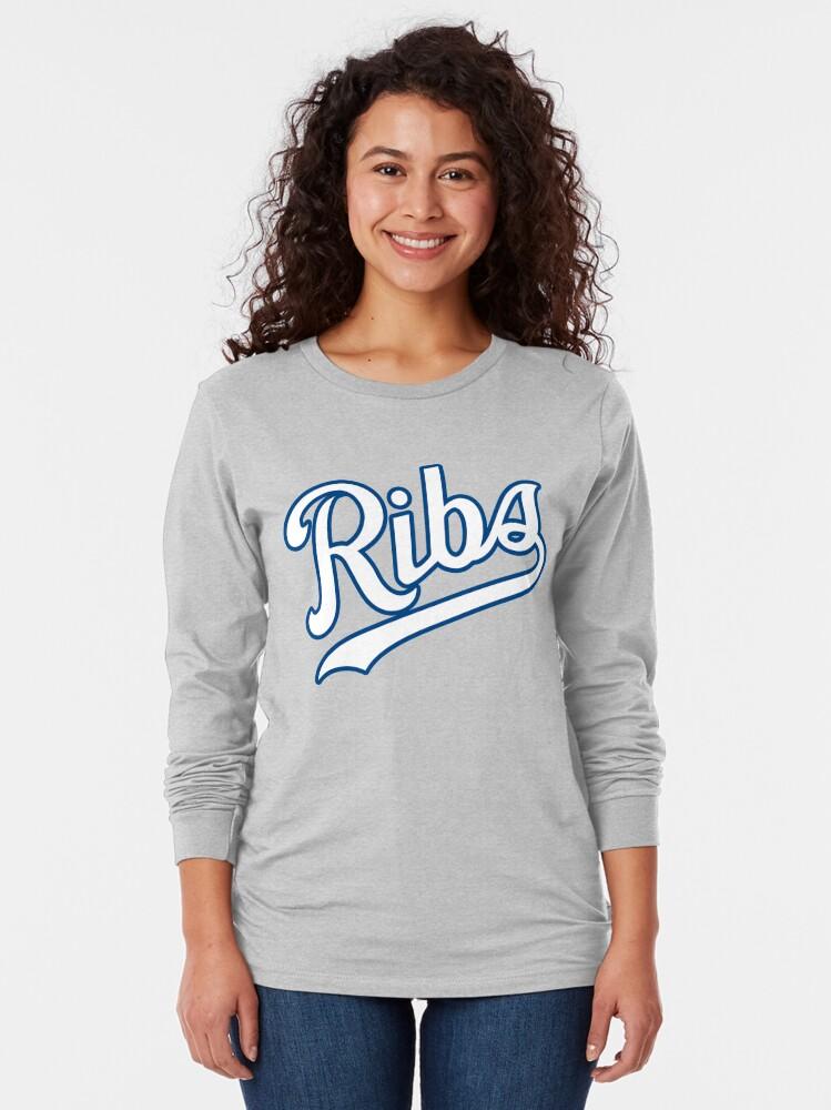 Alternate view of KC Ribs - Powder Blue 2 Long Sleeve T-Shirt