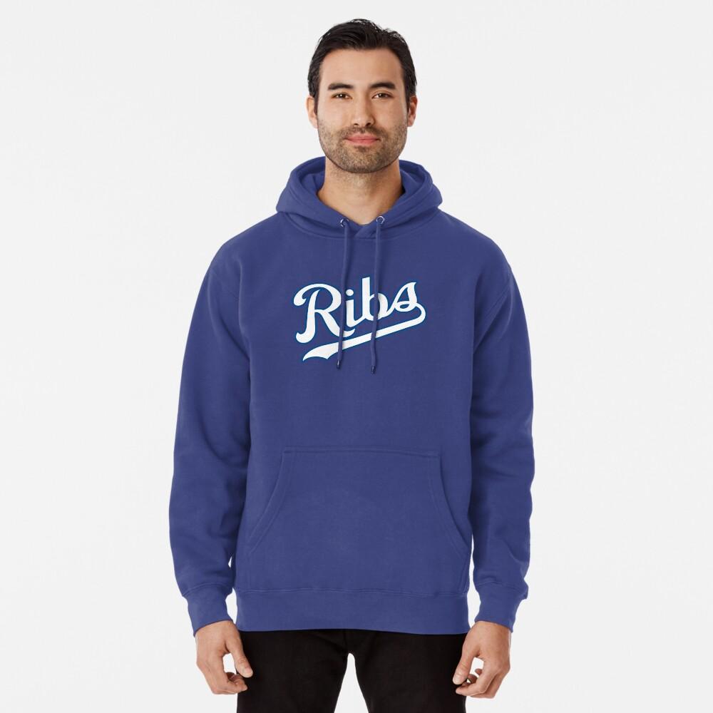 KC Ribs - Powder Blue 2 Pullover Hoodie