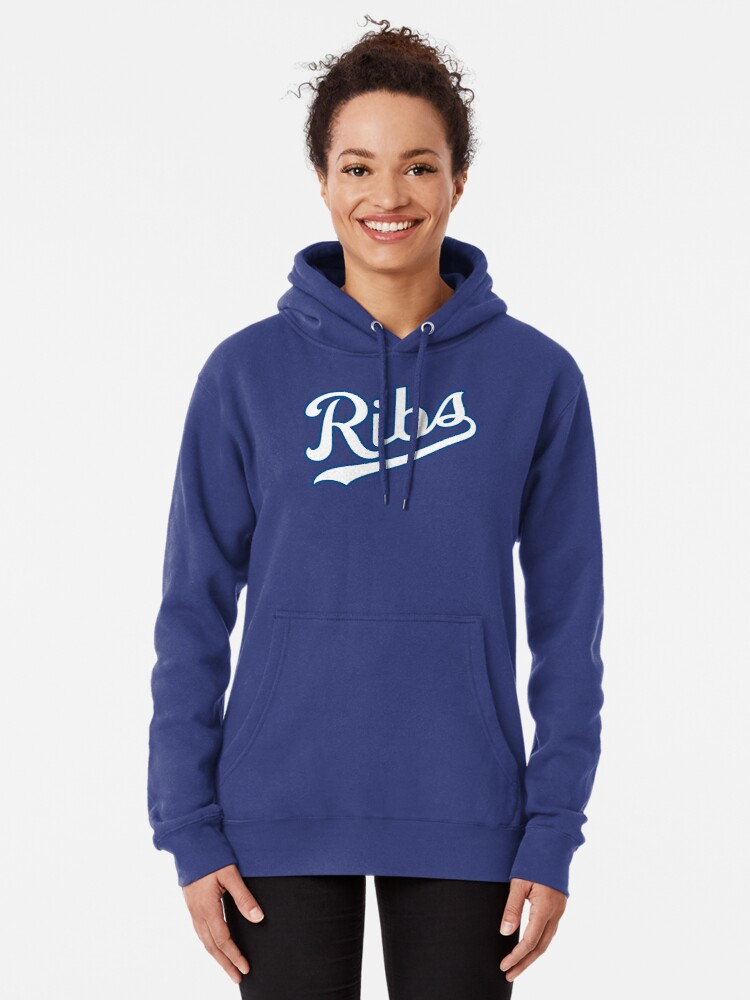 Alternate view of KC Ribs - Powder Blue 2 Pullover Hoodie