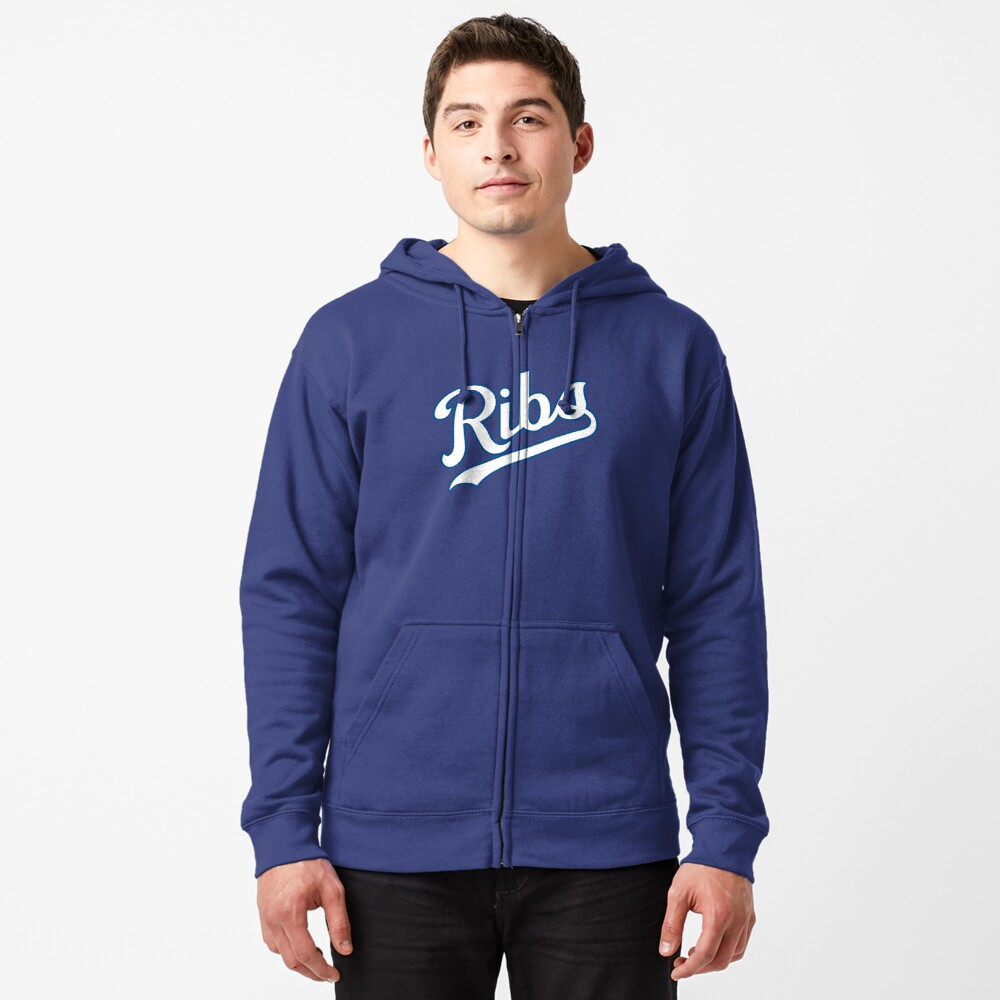 KC Ribs - Powder Blue 2 Zipped Hoodie