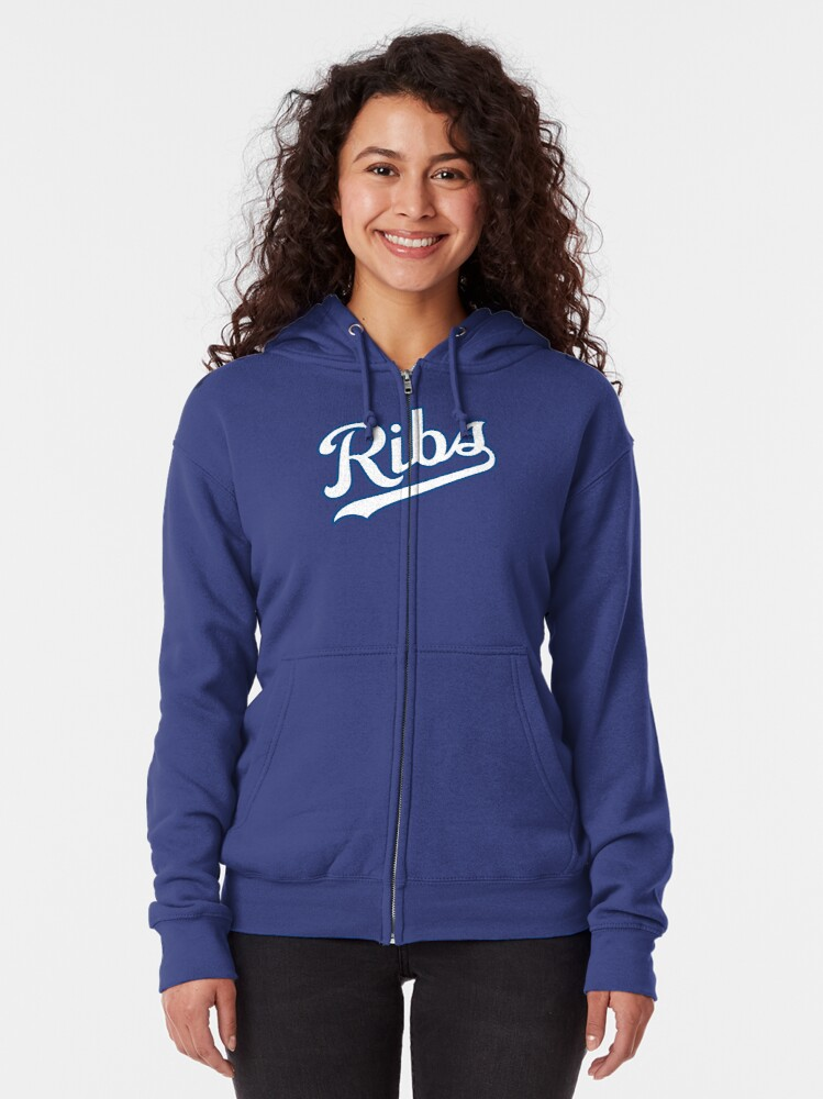 Alternate view of KC Ribs - Powder Blue 2 Zipped Hoodie
