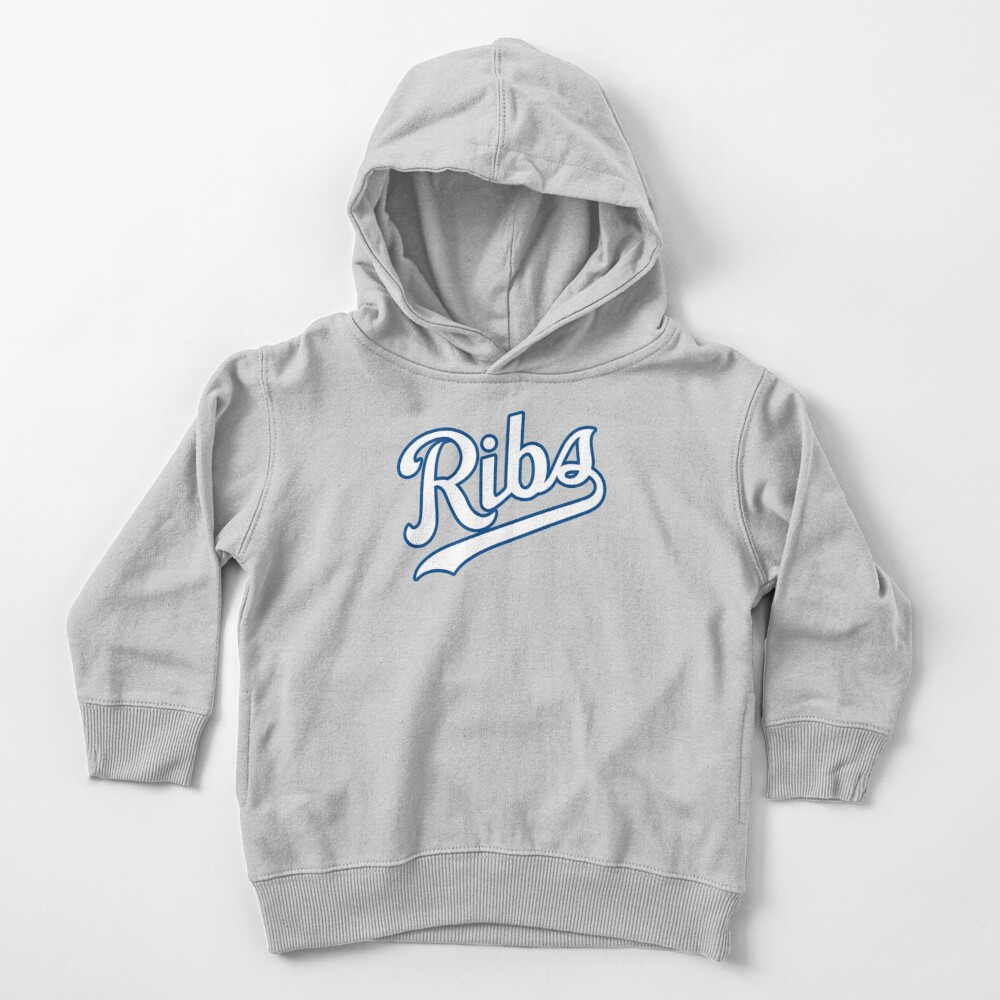 KC Ribs - Powder Blue 2 Toddler Pullover Hoodie