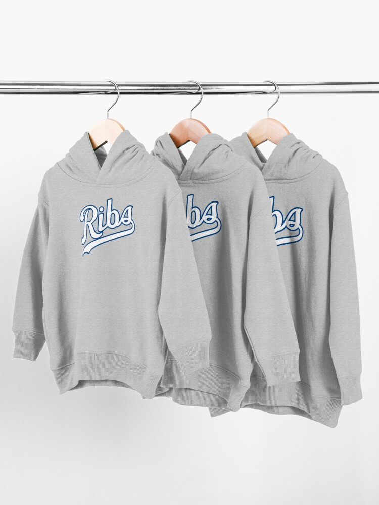 Alternate view of KC Ribs - Powder Blue 2 Toddler Pullover Hoodie