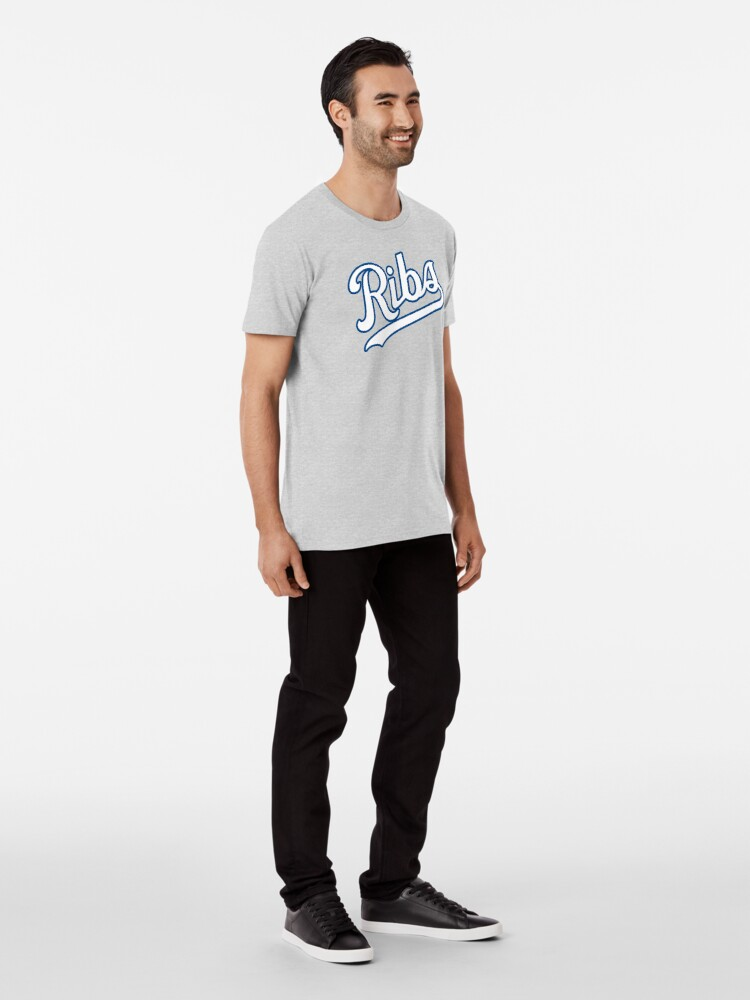 Alternate view of KC Ribs - Powder Blue 2 Premium T-Shirt