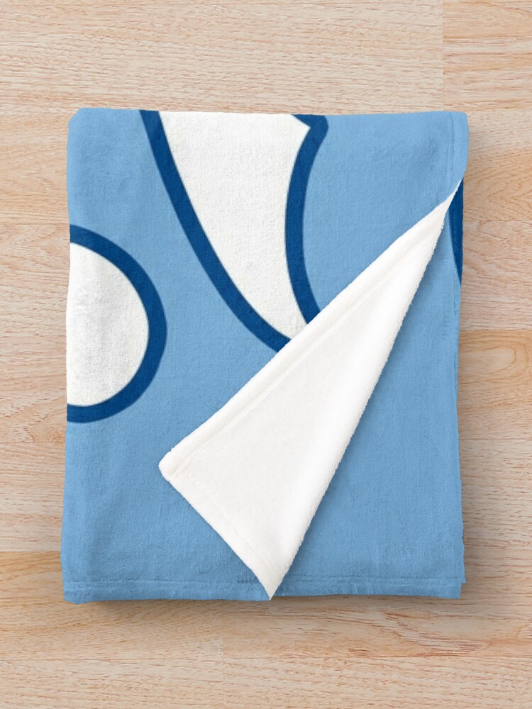 Alternate view of KC Ribs - Powder Blue 2 Throw Blanket