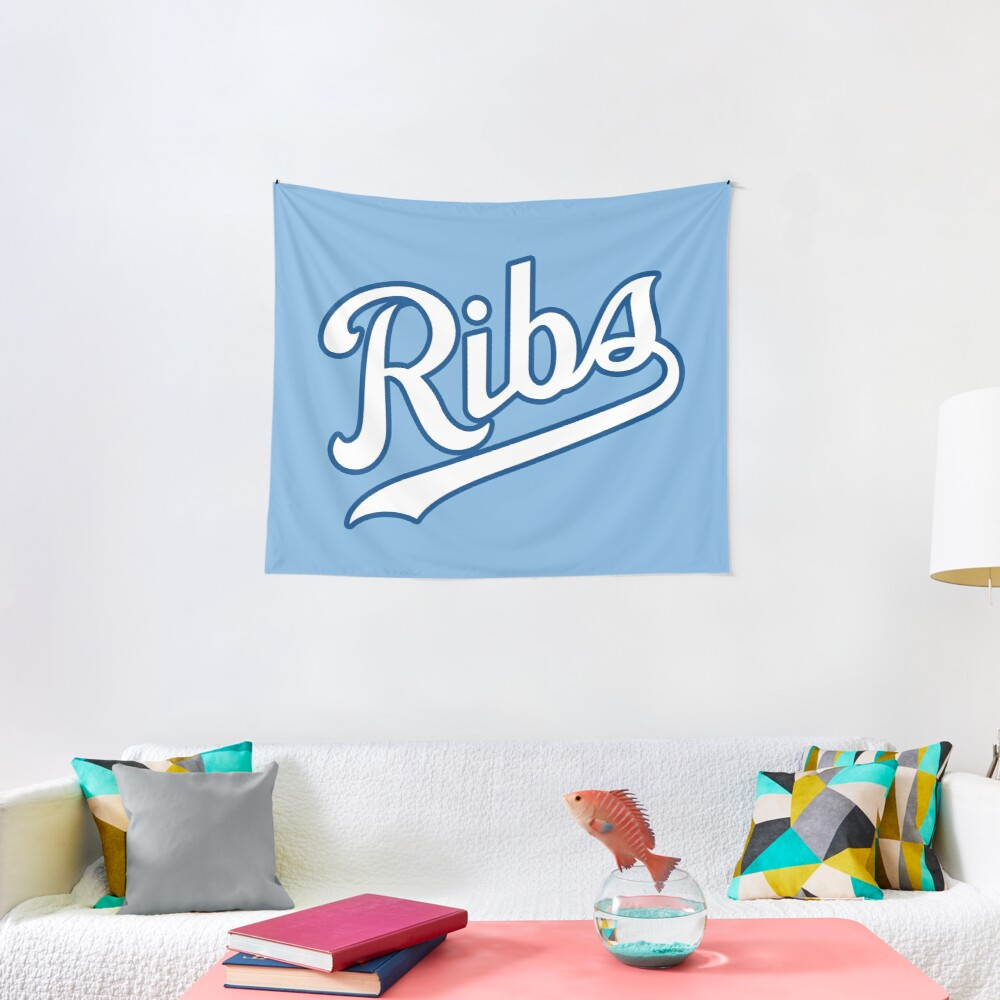KC Ribs - Powder Blue 2 Tapestry