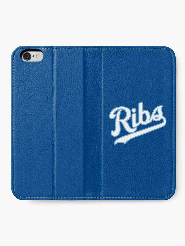 Alternate view of KC Ribs - Blue 2 iPhone Wallet