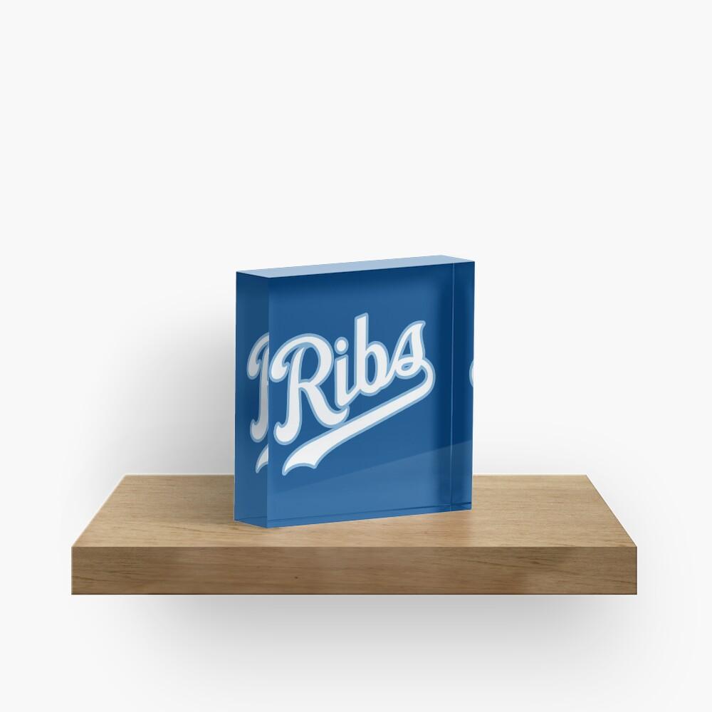 KC Ribs - Blue 2 Acrylic Block