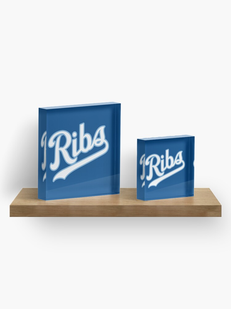 Alternate view of KC Ribs - Blue 2 Acrylic Block
