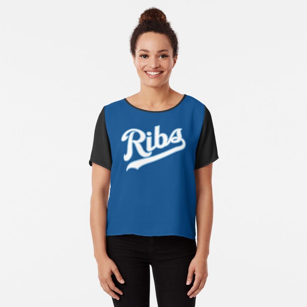 KC Ribs - Blue 2 Chiffon Top
