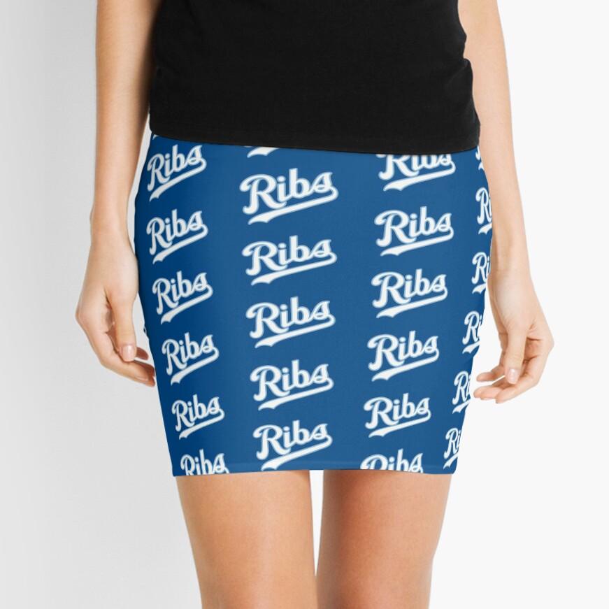 KC Ribs - Blue 2 Mini Skirt