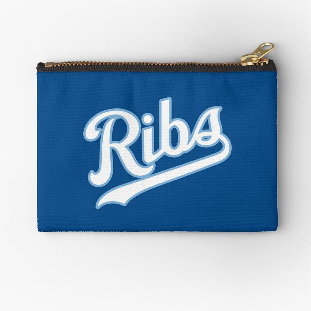 KC Ribs - Blue 2 Zipper Pouch