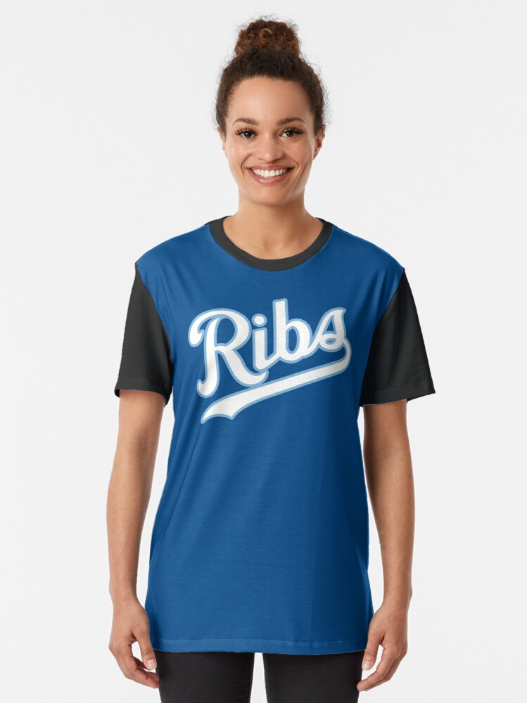 Alternate view of KC Ribs - Blue 2 Graphic T-Shirt
