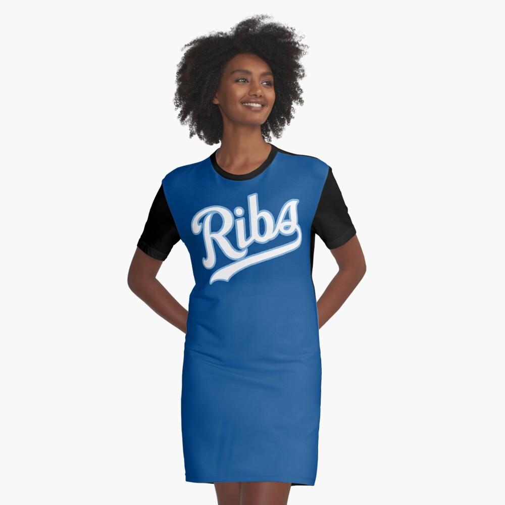 KC Ribs - Blue 2 Graphic T-Shirt Dress