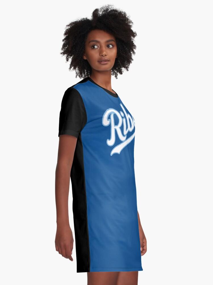 Alternate view of KC Ribs - Blue 2 Graphic T-Shirt Dress