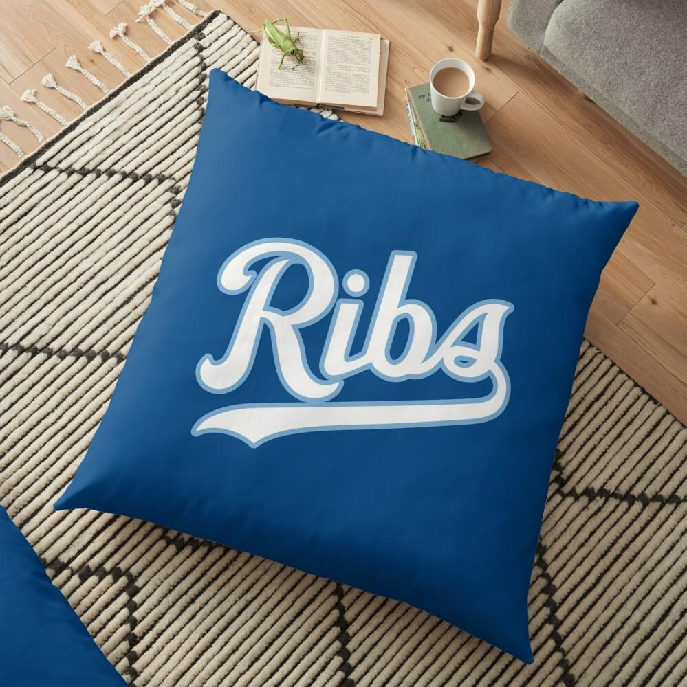 KC Ribs - Blue 2 Floor Pillow