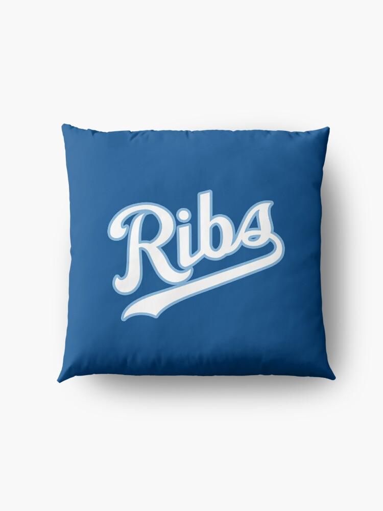Alternate view of KC Ribs - Blue 2 Floor Pillow