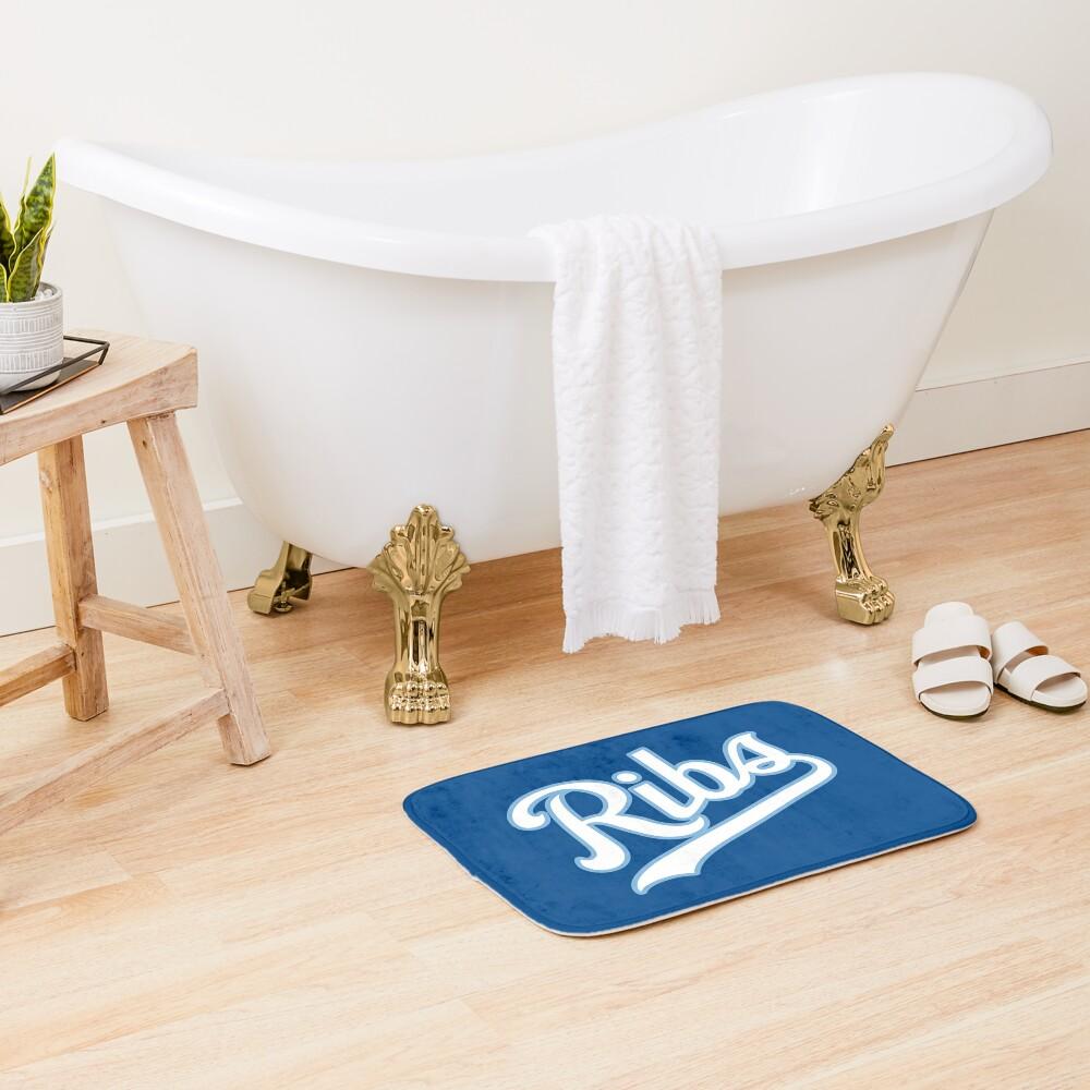 KC Ribs - Blue 2 Bath Mat