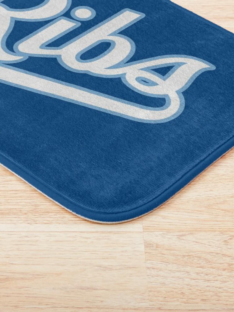 Alternate view of KC Ribs - Blue 2 Bath Mat