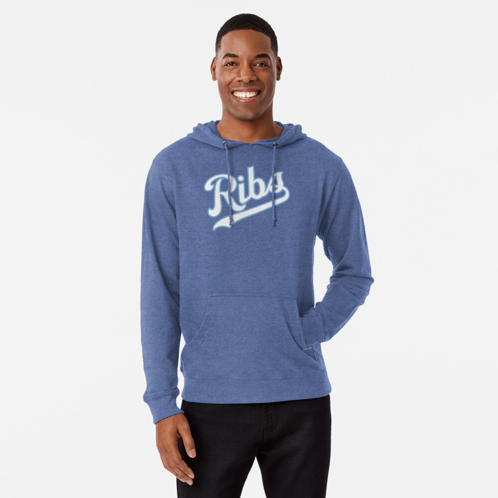 KC Ribs - Blue 2 Lightweight Hoodie