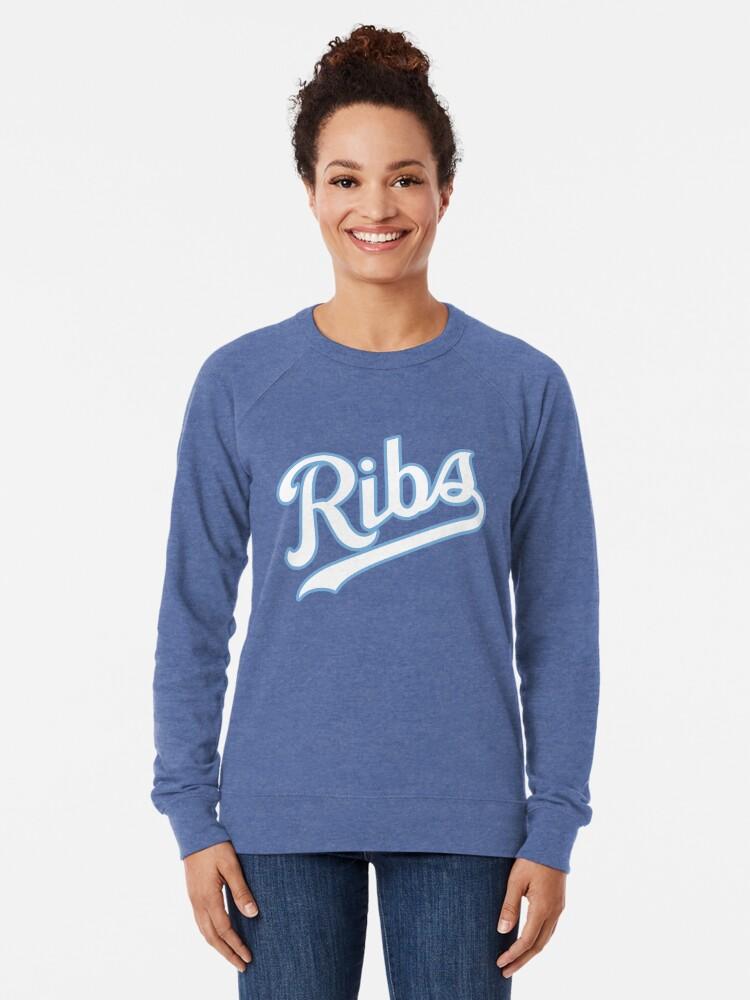 Alternate view of KC Ribs - Blue 2 Lightweight Sweatshirt