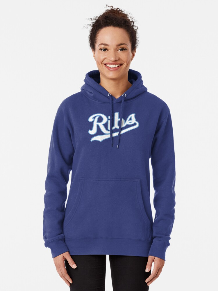 Alternate view of KC Ribs - Blue 2 Pullover Hoodie