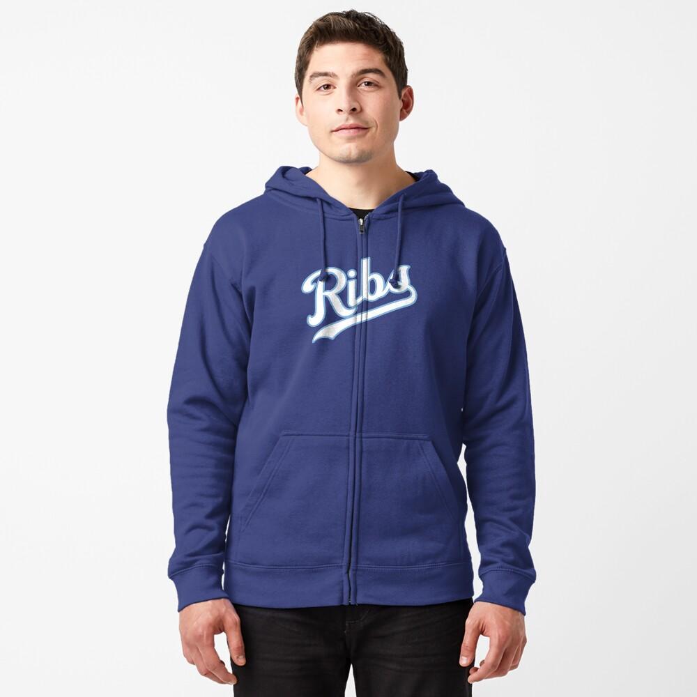 KC Ribs - Blue 2 Zipped Hoodie