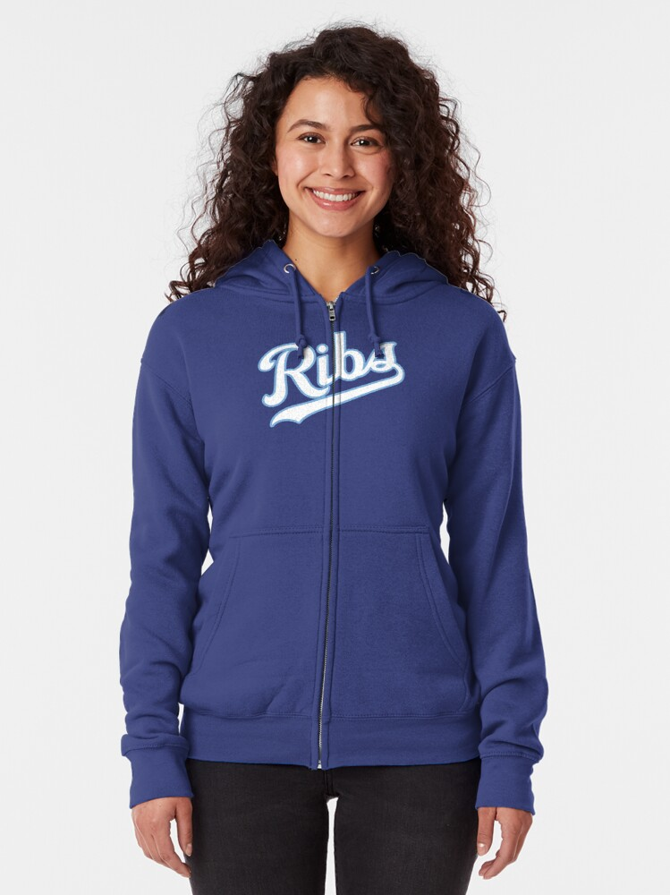 Alternate view of KC Ribs - Blue 2 Zipped Hoodie