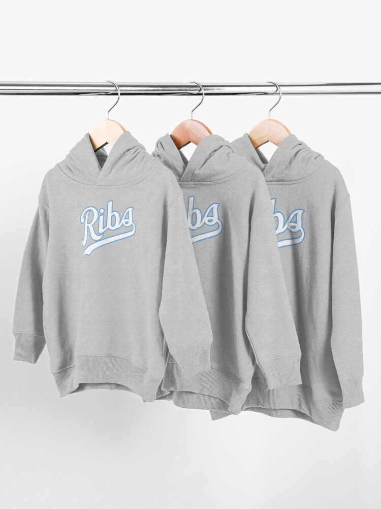 Alternate view of KC Ribs - Blue 2 Toddler Pullover Hoodie