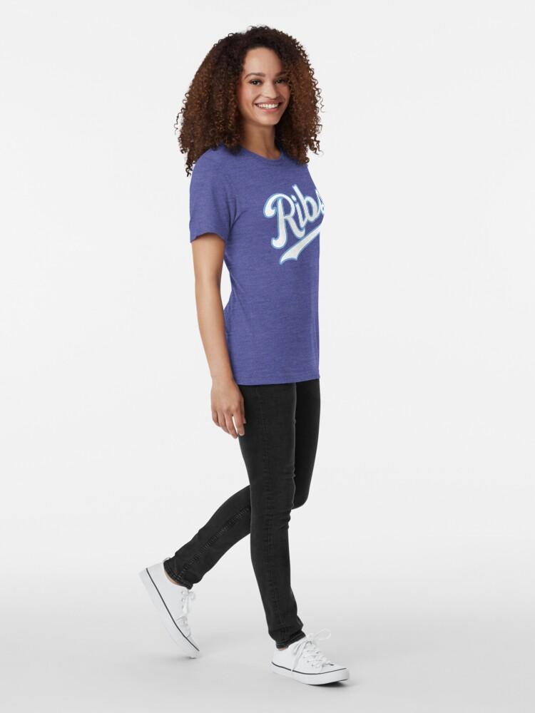 Alternate view of KC Ribs - Blue 2 Tri-blend T-Shirt