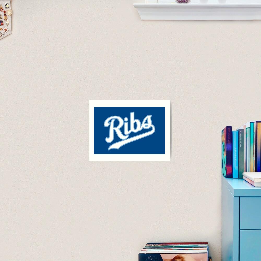 KC Ribs - Blue 2 Art Print