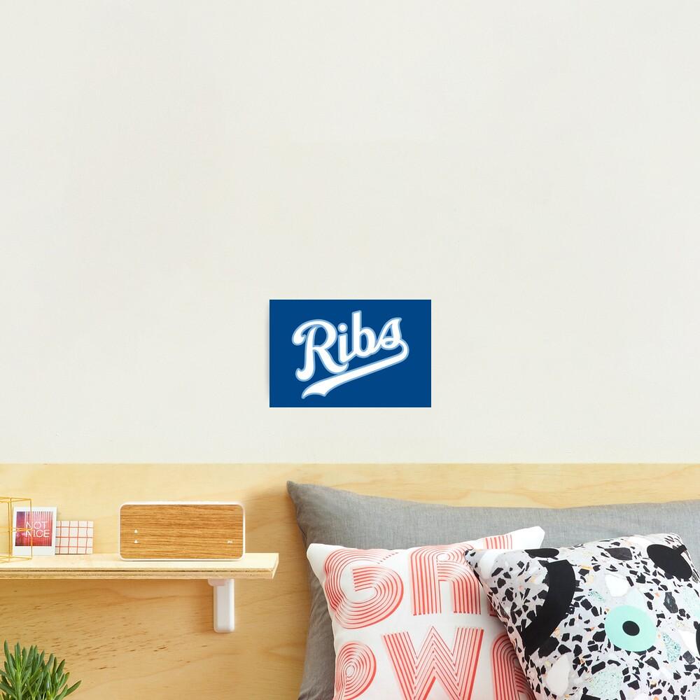 KC Ribs - Blue 2 Photographic Print