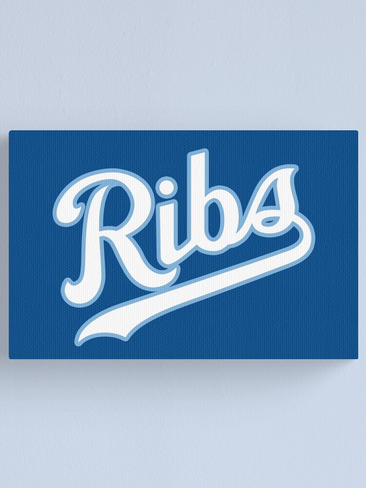 Alternate view of KC Ribs - Blue 2 Canvas Print