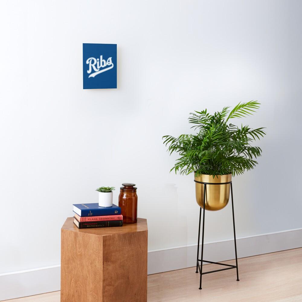 KC Ribs - Blue 2 Mounted Print