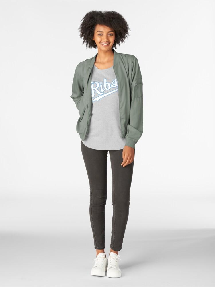 Alternate view of KC Ribs - Blue 2 Premium Scoop T-Shirt