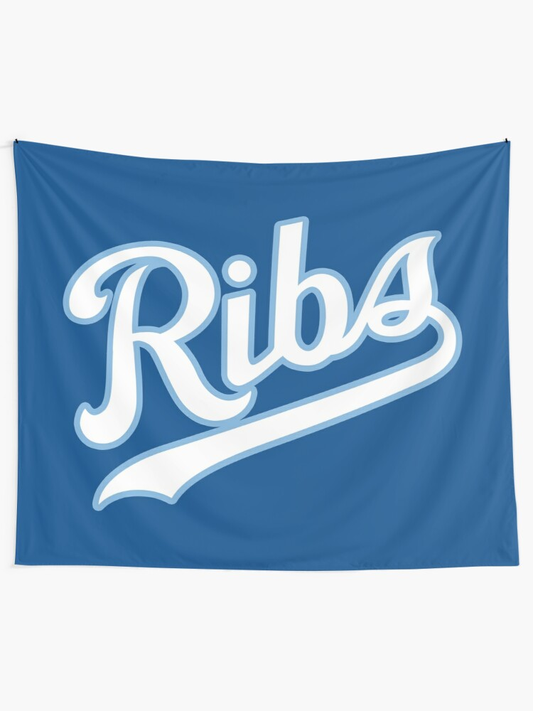 Alternate view of KC Ribs - Blue 2 Tapestry