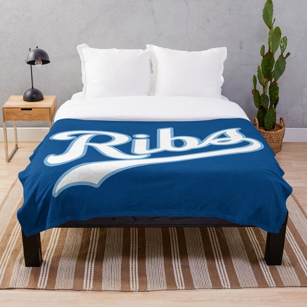 KC Ribs - Blue 2 Throw Blanket